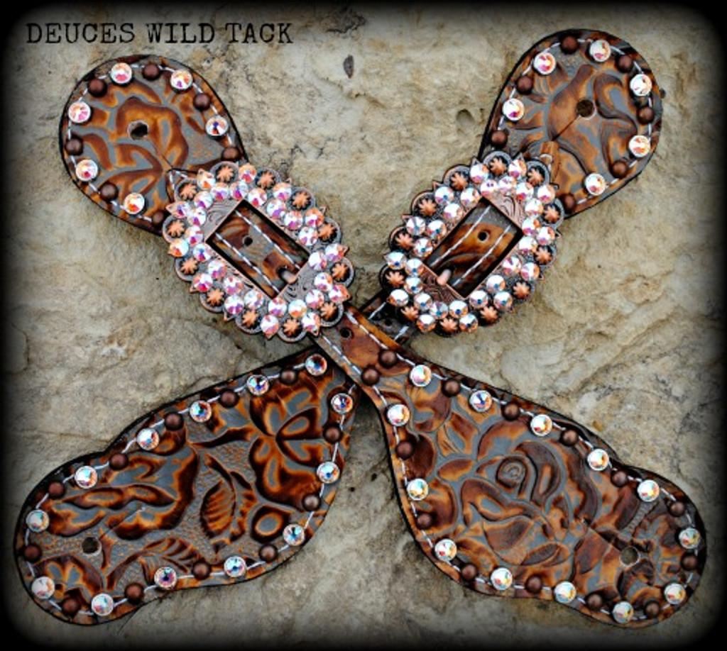 Copper Floral Straps
