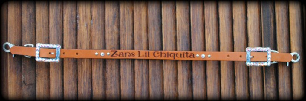Engraved Wither Strap - Custom Wording!