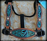 Turquoise Scroll Cheek Halter