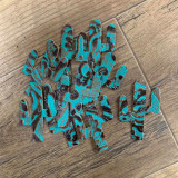 Cowhide Cactus - Turquoise Floral
