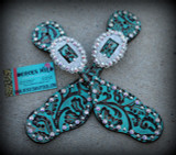 Turquoise Floral Straps