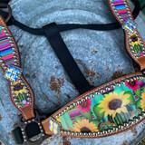 Custom Serape Sunflower Cheek Halter