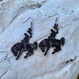 In Stock Snake Bucking Horse Earrings