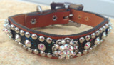 Hide With Berry Bling Dog Collar 10-21""