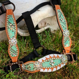 Aztec & White Whipstitch Cheek Halter IN STOCK