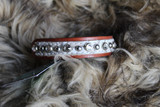 "8-10"" 02 White Scroll Dog Collar In Stock"