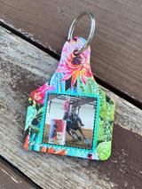 Printed Photo Ear Tag-Blooming Cactus