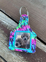 Printed Photo Ear Tag-Tie Dye