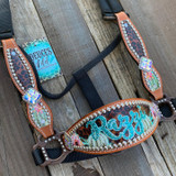 Personalized Cheetah & Cactus Cheek Halter
