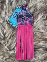 Pink Feather Keychain