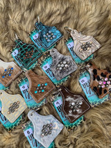 Cowhide & Bling Keychains Group 1