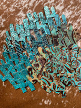 March 2-Turquoise/Teal Cactus-20 Pairs/40 Peices
