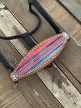 Blinged Out Serape On Tan Bronc Halter In Stock