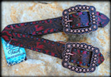 Spur Straps 9-Red Painted Belt Style