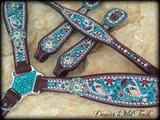 Turquoise & Brown Paisley Set