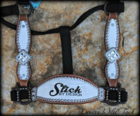 Laser Engraved Hide Cheek Halter