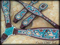 Turquoise & Brown Paisley Set