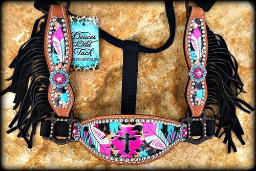 Cheetah Cross Aztec Cheek Halter