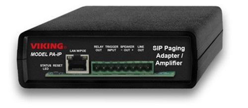Viking Electronics SIP Multicast Paging Adapter Amplifier PA-IP