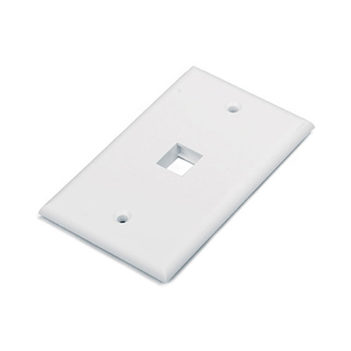 HYPERLINE 1 PORT FACE PLATE WHITE HY-FP-U-1-WH