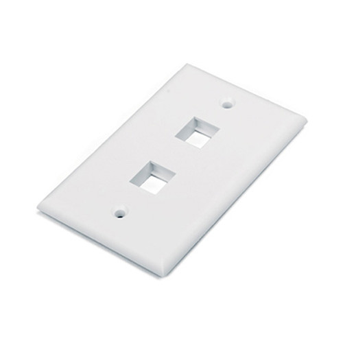HYPERLINE 2 PORT FACE PLATE WHITE HY-FP-U-2-WH