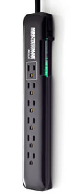 SLIM 6 OUTLET 1080 JOULE SURGE STRIP