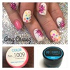 Summer fun nails by Las Vegas Educator Amy Chasez. Products used: pigment #1009 and SO Simple white hard gel in the pot.
