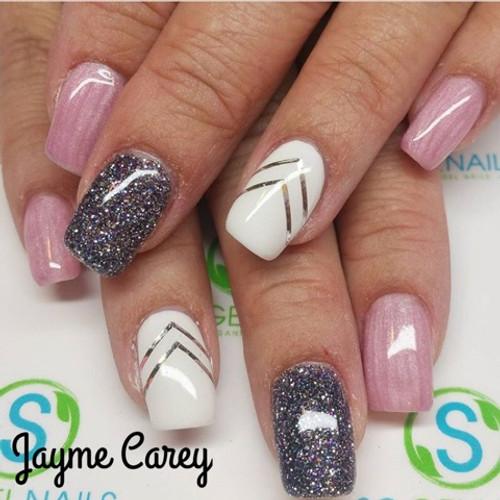 Pigments #1327, 205 and SO Simple hard white gel with design tape