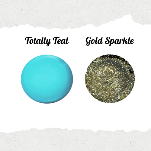 Totally Teal & Gold Sparkle Pair