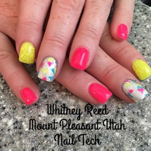 Nail Tech Whitney Reed used this glow in the dark color pigment #1003