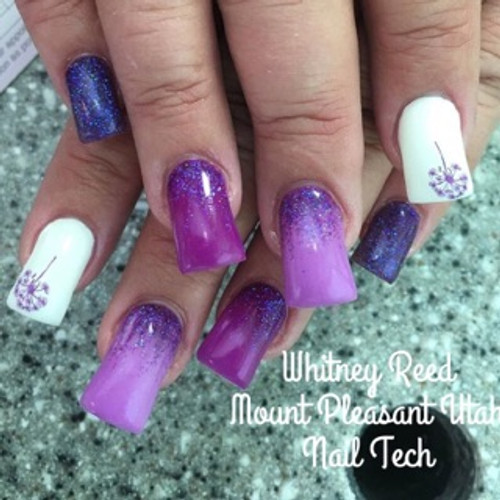 Nail Tech Whitney Reed used this glow in the dark color pigment #1011 with #1002