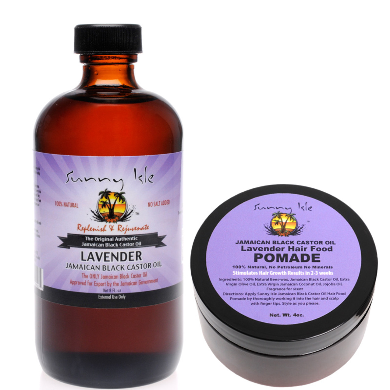 Lavender Jamaican Black Castor Oil 8 Oz And Hair Pomade Combo