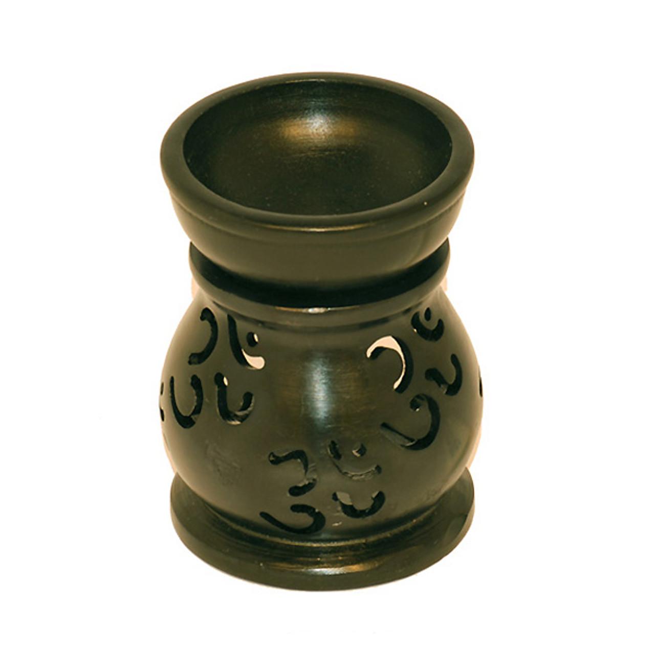 Small Om Black Stone Oil Diffuser 3 5 Inch