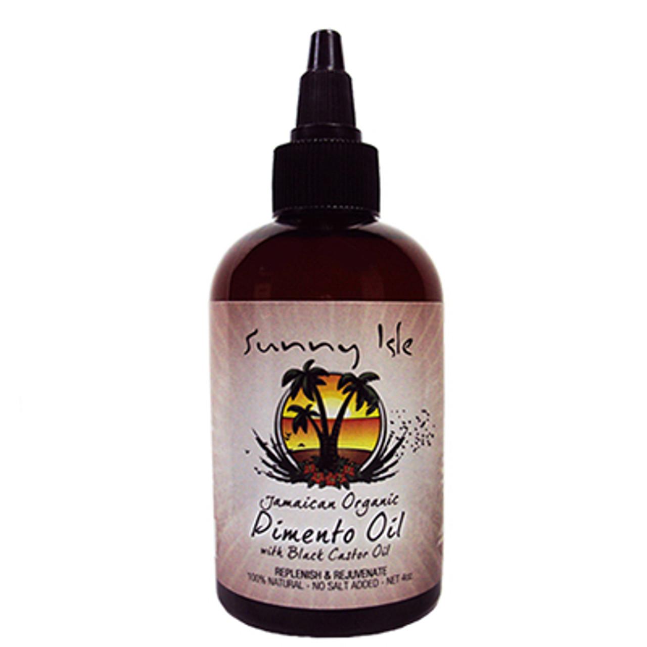 Jamaican Organic Pimento Oil with Black Castor Oil 4 Oz