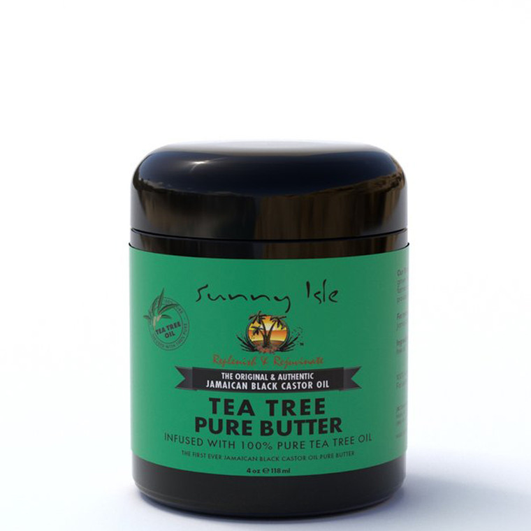 Sunny Isle Jamaican Black Castor Oil Pure Butter Infused with Tea Tree Oil 4oz