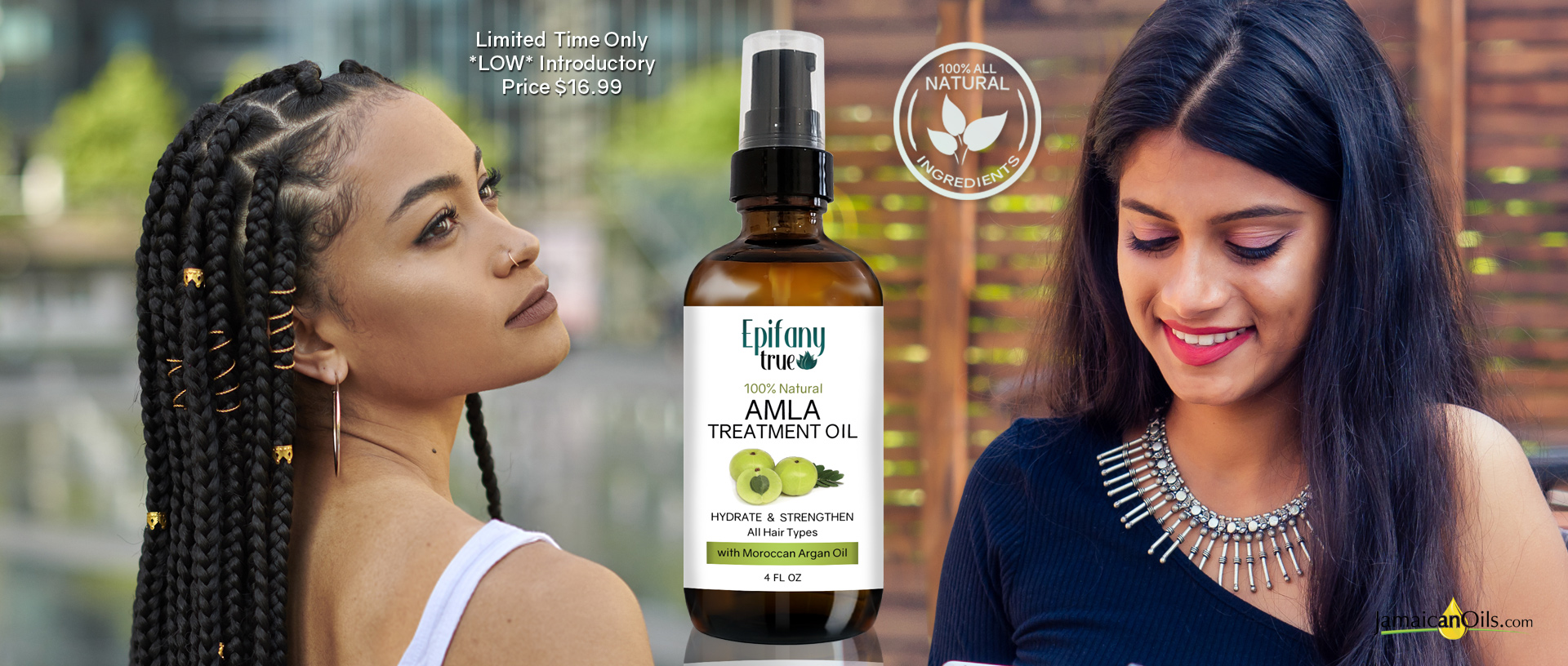 Epifany True 100% Natural Amla Treatment Oil 4oz