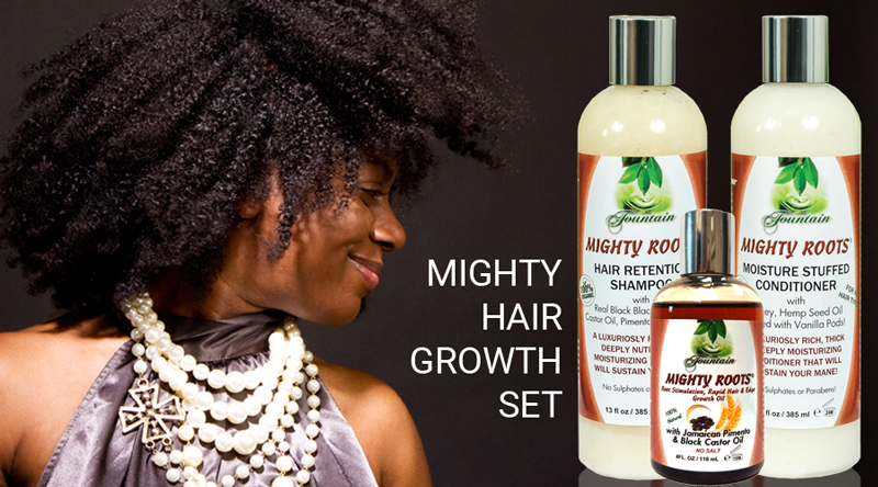 Fountain Mighty Roots Rapid Hair Growth Oil with Shampoo and Conditioner