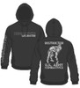 New Combatives Instructor Hoodie Black with Silver Ink  - 50/50 Cotton Blend
