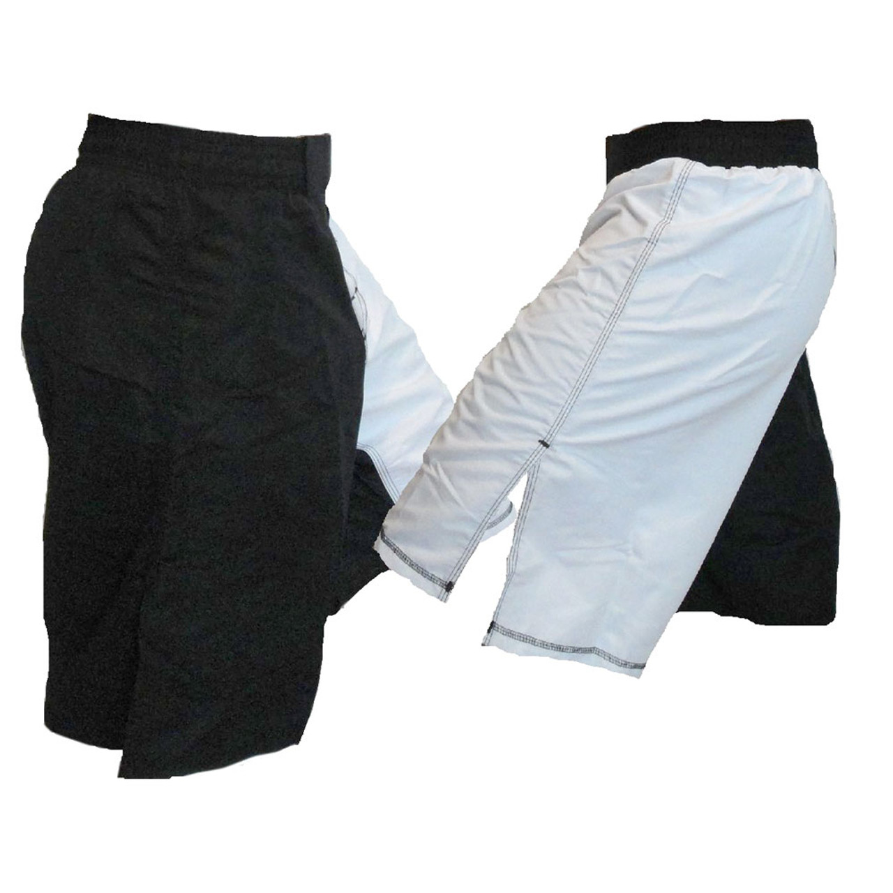 Blank MMA Fight Shorts Black MMA Fight Shorts