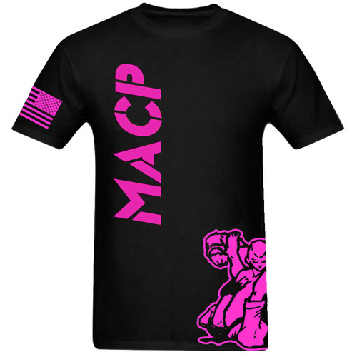 Black and Pink MACP Fight Shirt -100% Cotton