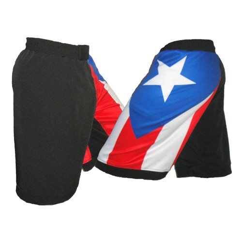 Puerto Rico MMA Shorts - Side View
