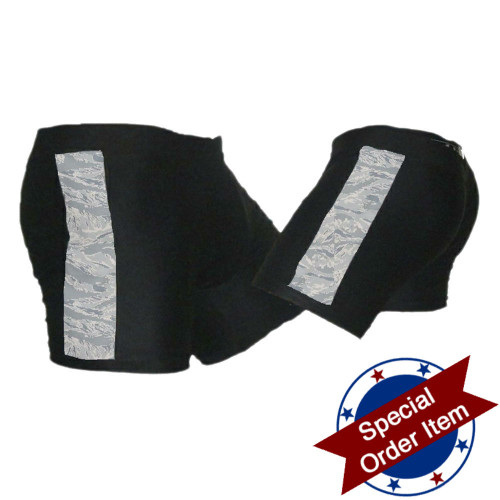 Black and ABU (Air Force Camo) Vale Tudo MMA Shorts