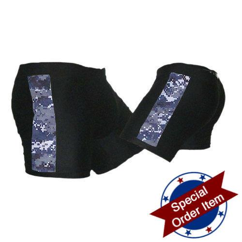 Black and NWU (Navy Camo) Vale Tudo MMA Shorts