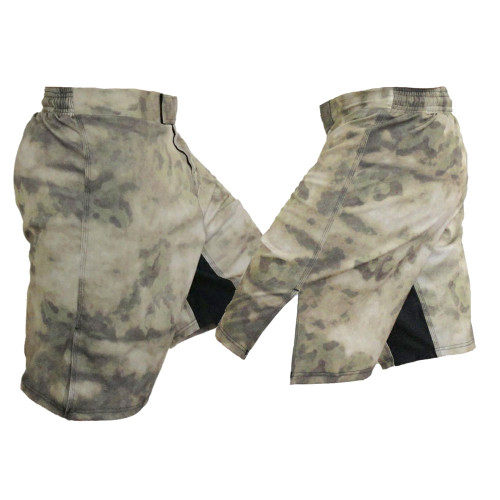 Advanced Tactical Camo (ATACS) Forest Green Blank MMA Fight Shorts