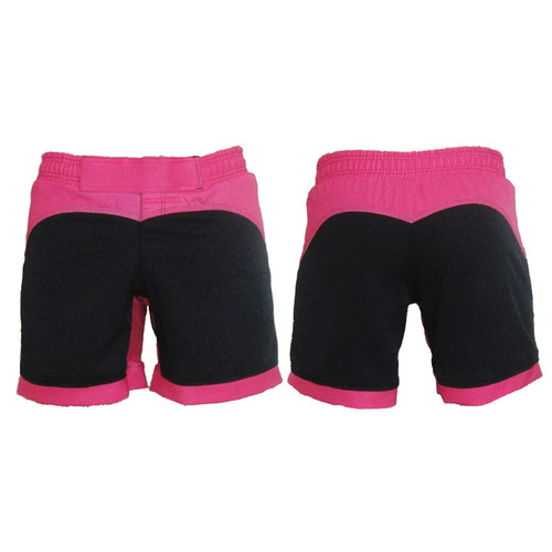 Black and Pink Female MMA Shorts - CLEARANCE
