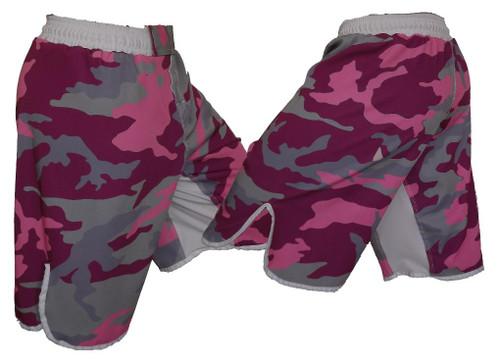 Pink Camo MMA Fight Shorts