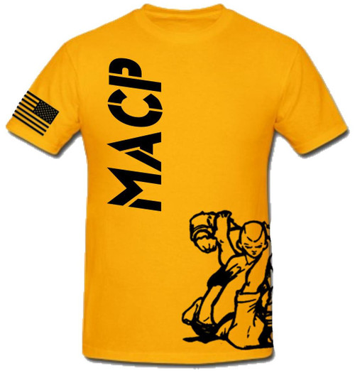 Gold and Black Fight Shirt -100% Cotton