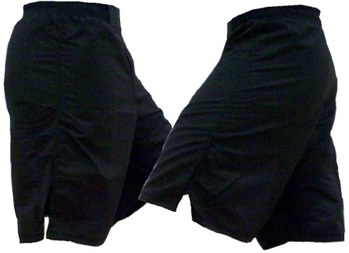 Black Blank MMA Fight Shorts