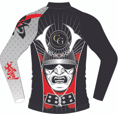 Combatives Gear Full Sleeve Samurai Kabuto Mask Rash Guard