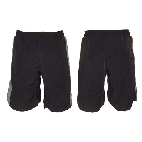 Black MMA Fight Shorts with ABU Stripe